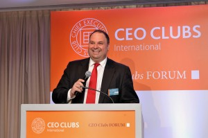 8th CEO clubs Greece Forum, Alex at the pondium